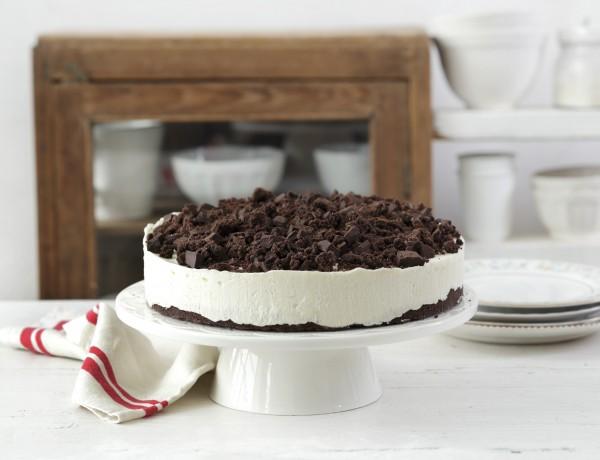 עוגת גבינה נוסטלגית עם פירורי שוקולד