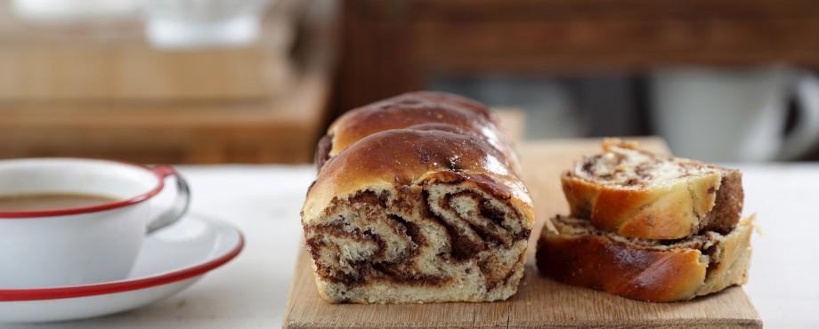 עוגת שמרים של סבתא במילוי שוקולד ואגוזים