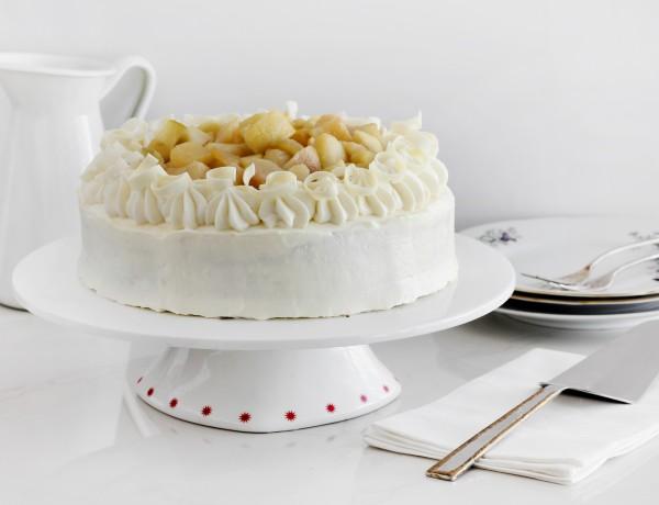 עוגת שוקולד לבן ותפוחים