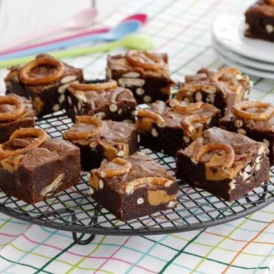 בראוניז שוקולד, חמאת בוטנים ובייגלה