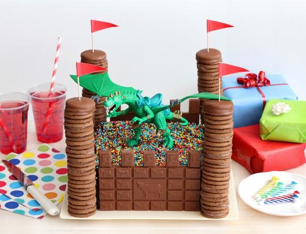 עוגת יום הולדת טירה