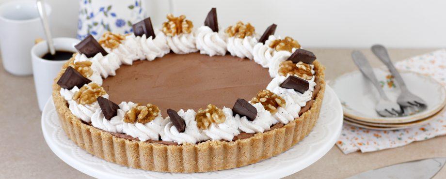 פאי מוס שוקולד ודבש ללא אפייה