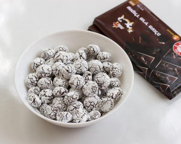 מיני עוגיות שוקולד מושלגות